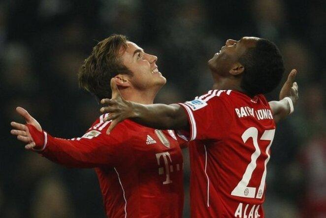 Mario Gotze ir Davidas Alaba džiaugiasi įvarčiu | Reuters/Scanpix nuotr.