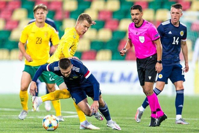Lietuva U-21 - Škotija U-21 rungtynių akimirka   lff.lt nuotr.