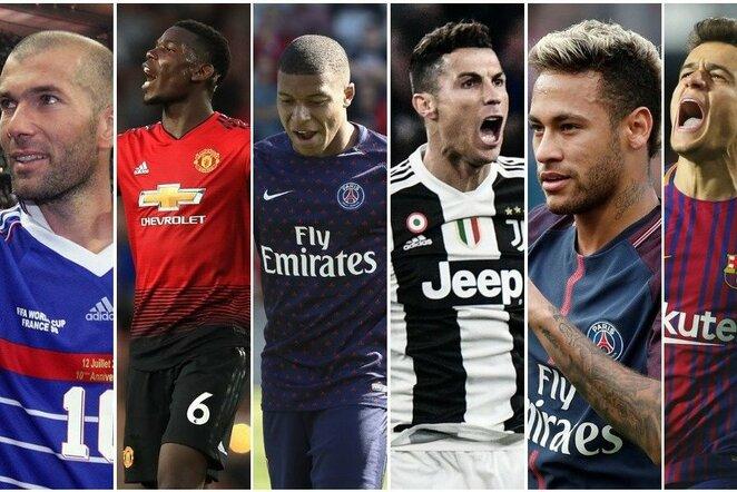 Top 50: brangiausi visų laikų futbolo perėjimai, įvertinus infliaciją | Scanpix nuotr.