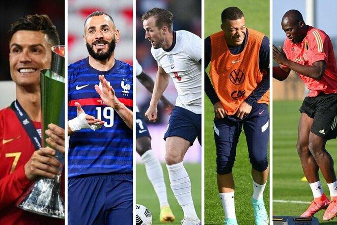"""Pretendentai į Euro 2020""""auksinį batelį""""   Organizatorių nuotr."""