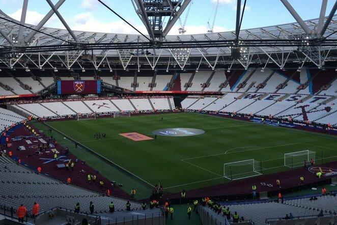 """West Ham"" stadionas   ""Twitter"" nuotr."