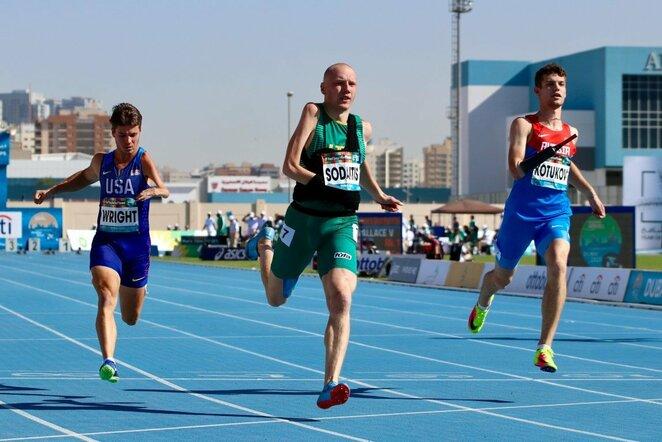 100 m bėgimo pusfinalis | Parateam.lt nuotr.