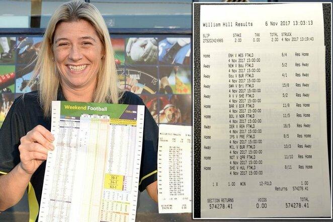 Moteris laimėjo daugiau nei pusę milijono svarų, nes lažinosi dėl mėgstamų komandų pavadinimų | Organizatorių nuotr.