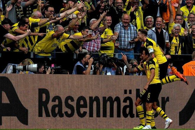 """Borussia"" – ""RB Leipzig"" rungtynių akimirka  | Scanpix nuotr."