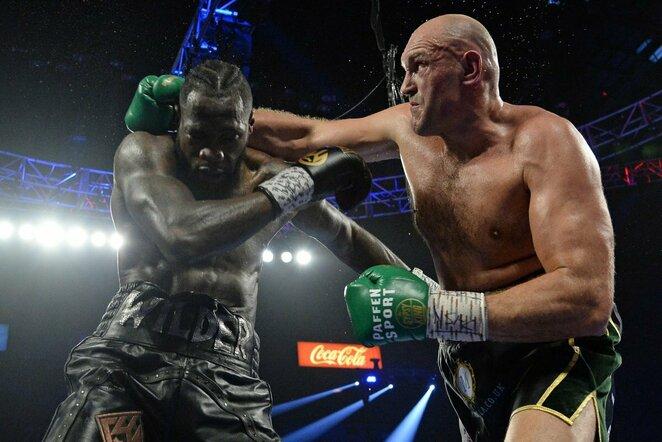 Deontay Wilderis ir Tysonas Fury   Scanpix nuotr.