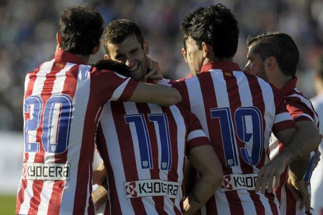 """""""Atletico"""" futbolininkai džiaugiasi įvarčiu   AP/Scanpix nuotr."""