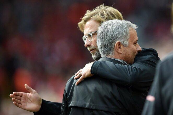 Jurgenas Kloppas ir Jose Mourinho   Scanpix nuotr.