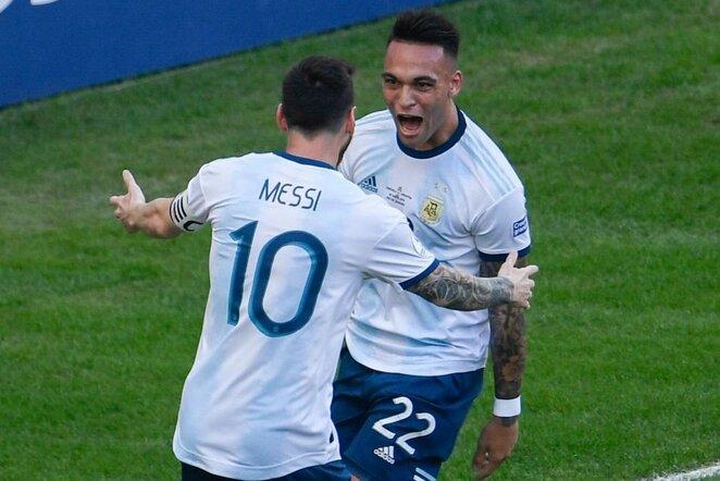 Lautaro Martinezas ir Lionelis Messi | Scanpix nuotr.