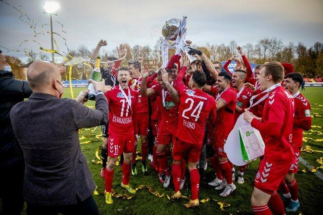 """""""Panevėžio"""" triumfas iškovojus LFF taurę   Luko Balandžio / BNS foto nuotr."""