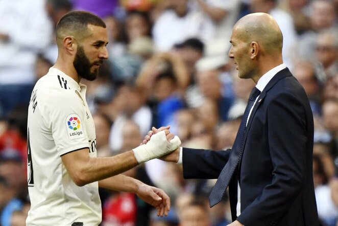 Karimas Benzema ir Zinedine'as Zidane'as | Scanpix nuotr.