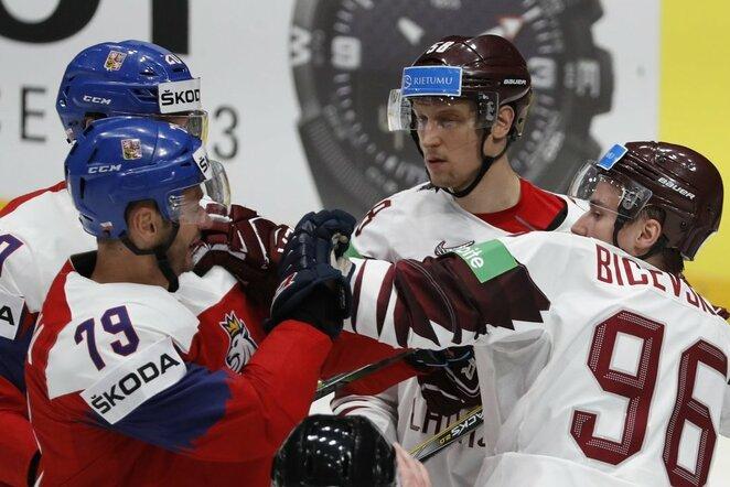 Čekija – Latvija rungtynių akimirka | Scanpix nuotr.