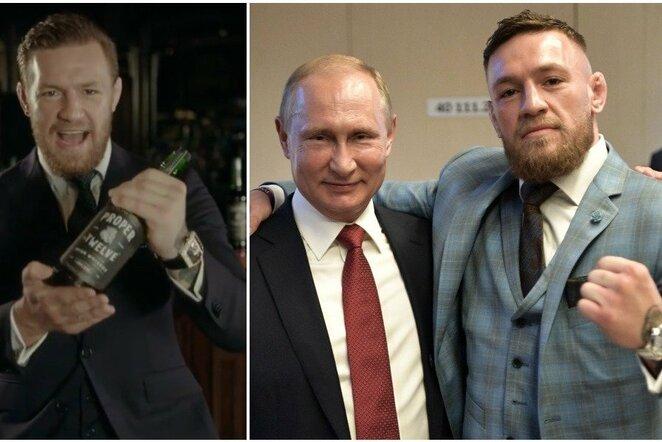 Vladimiras Putinas ir Conoras McGregoras | Scanpix nuotr.