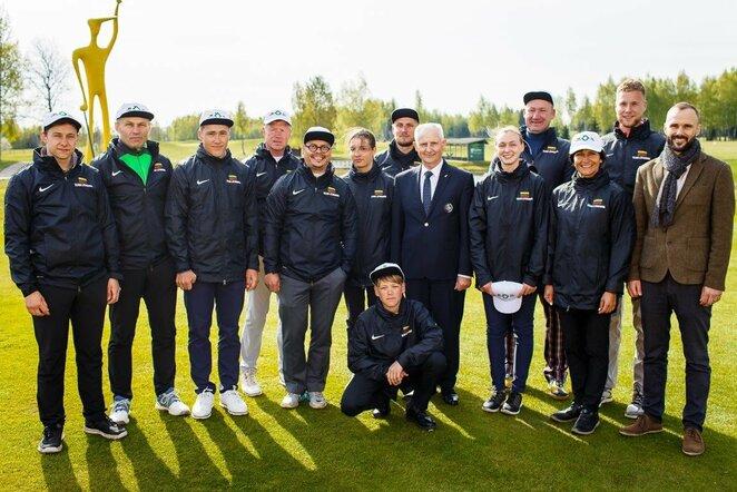 Lietuvos ir Lenkijos golfo rinktinių mačas   Organizatorių nuotr.