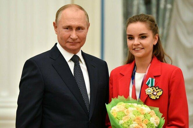 Vladimiras Putinas ir Dina Averina | Scanpix nuotr.
