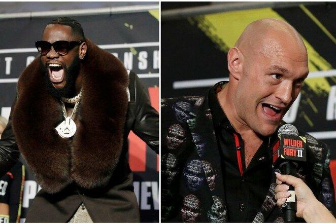 Deontay Wilderis ir Tysonas Fury | Scanpix nuotr.