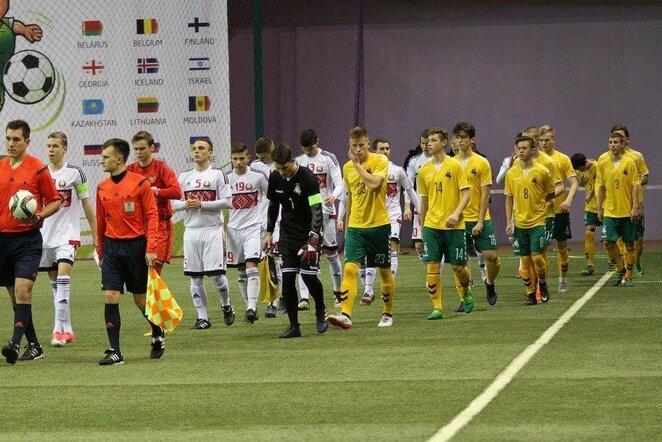 Lietuvos U-18 futbolo rinktinė   Organizatorių nuotr.