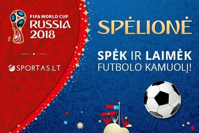 Sportas.lt Pasaulio Futbolo Čempionato spėlionė | Sportas.lt nuotr.
