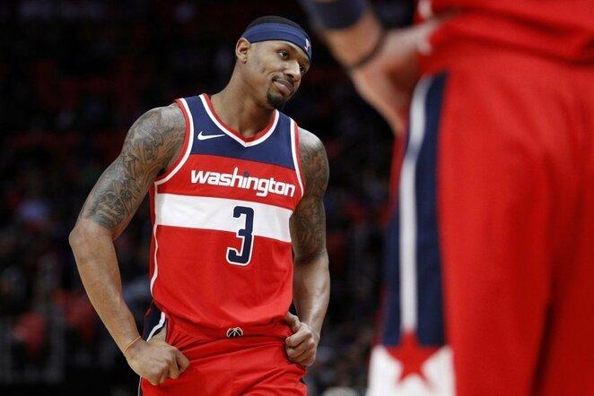 "3. Bradley Bealas. Šio sezono statistika ""Wizards"" klube: 25,6 tšk., 5,5 rez. perd., 5 atk. kam., 1,5 per. kam.   Scanpix nuotr."