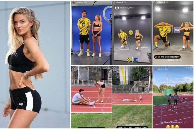 Alica Schmidt ir jos treniruotės | Instagram.com nuotr