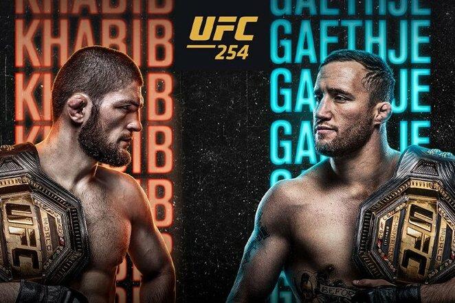 Chabibas Nurmagomedovas dėl UFC lengvojo svorio kategorijos (iki 70,3 kg) čempiono titulo kausis su amerikiečiu J.Gaethje | Organizatorių nuotr.