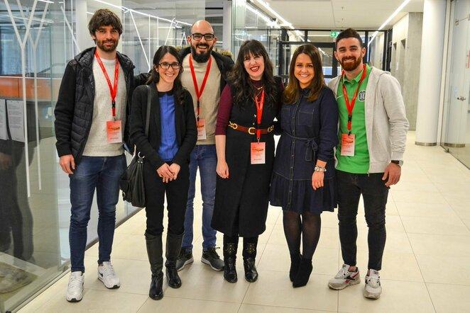 """Su studentais susitikę """"Žalgirio"""" ispanai džiaugėsi gyvenimu Lietuvoje   Organizatorių nuotr."""