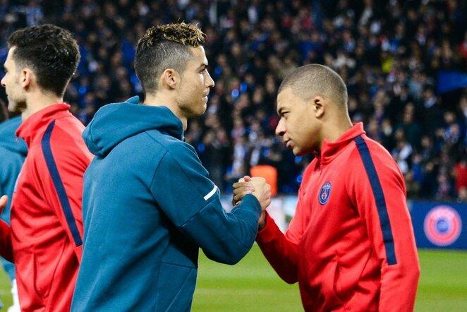 Cristiano Ronaldo ir Kylianas Mbappe | Scanpix nuotr.