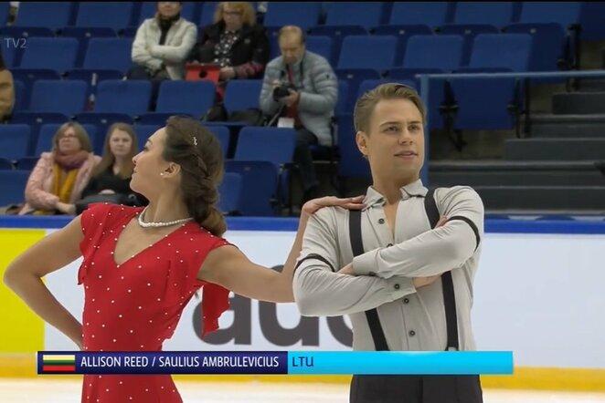 Saulius Ambrulevičius ir Allison Reed   Youtube.com nuotr.