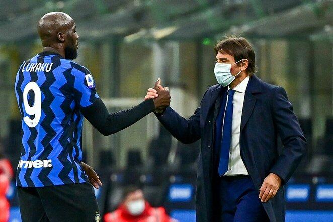 Romelu Lukaku ir Antonio Conte   Scanpix nuotr.