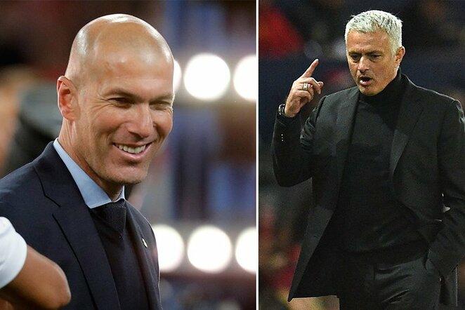 Z.Zidane'as ir J.Mourinho | Scanpix nuotr.