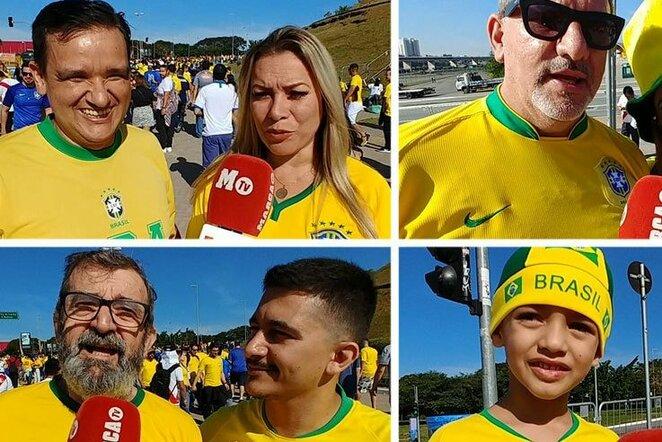 Brazilijos rinktinės sirgaliai | Organizatorių nuotr.