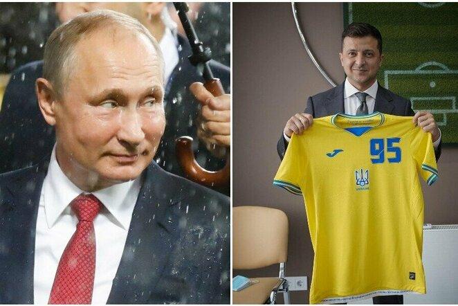 Vladimiras Putinas ir Volodymyras Zelenskis   Scanpix nuotr.