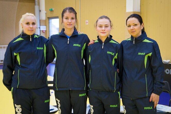 Lietuvos moterų stalo teniso rinktinė | Organizatorių nuotr.