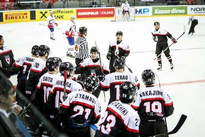 Japonijos ir Kroatijos rinktinių rungtynės | hockey.lt nuotr.