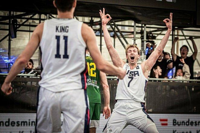 Lietuvių ir amerikiečių rungtynės | FIBA nuotr.
