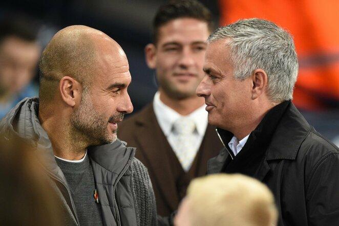 Pepas Guardiola ir Jose Mourinho | Scanpix nuotr.