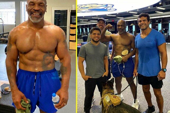 Mike'as Tysonas su UFC legendomis | Instagram.com nuotr