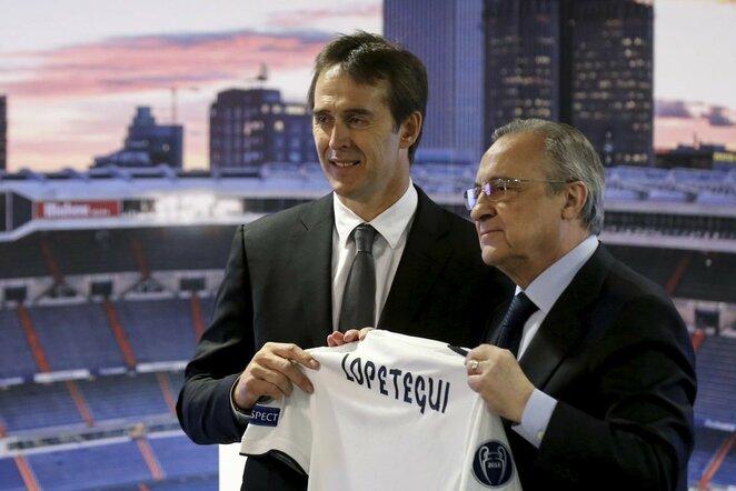 """Madrido """"Real"""" pristatė naująjį trenerį Juleną Lopetegui   Scanpix nuotr."""