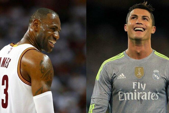 LeBronas Jamesas ir Cristiano Ronaldo | Scanpix nuotr.