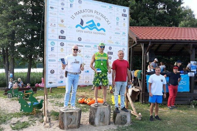Keturi lietuviai dalyvavo plaukimo maratone Lenkijoje | Organizatorių nuotr.