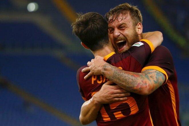 Daniele De Rossi prie pergalės prisidėjo įvarčiu | Reuters/Scanpix nuotr.