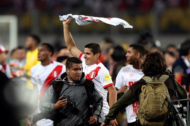 Peru rinktinės ir sirgalių džiaugsmas patekus į pasaulio čempionatą | Scanpix nuotr.