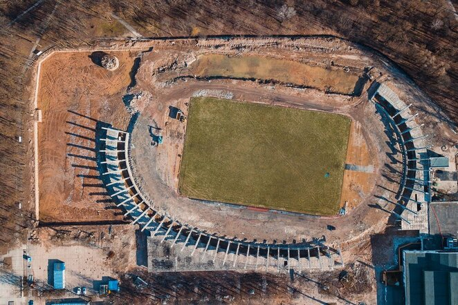 Kauno stadiono statybos | Organizatorių nuotr.