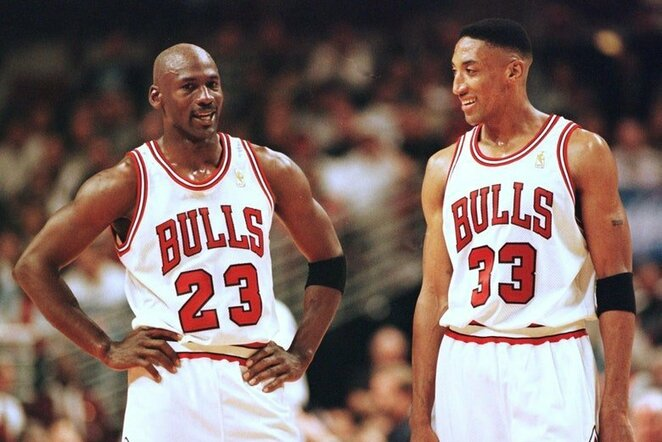 Michaelas Jordanas ir Scottie Pippenas | Organizatorių nuotr.