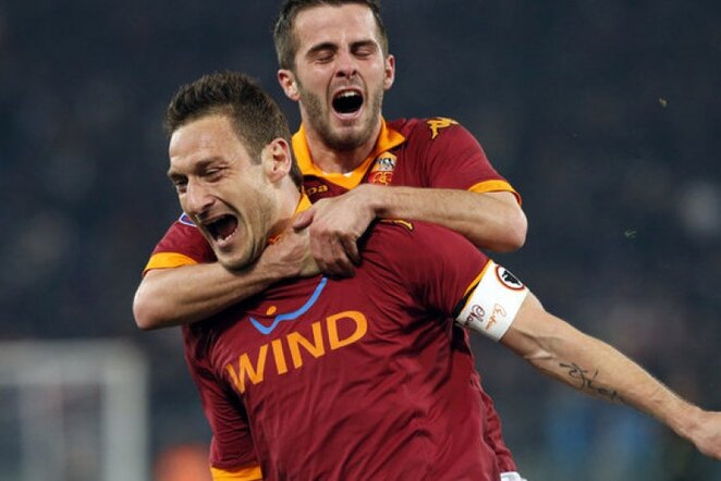 Miralemas Pjaničius ir Francesco Totti | Reuters/Scanpix nuotr.