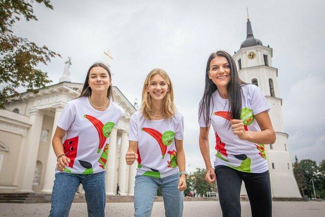Maratono savanorės ir bėgikė Diana Lobačevskė   Organizatorių nuotr.