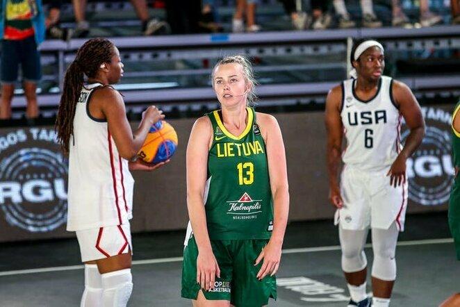 Lietuvos moterų 3x3 krepšinio rinktinė pasaulio turo etape Klaipėdoje   FIBA nuotr.