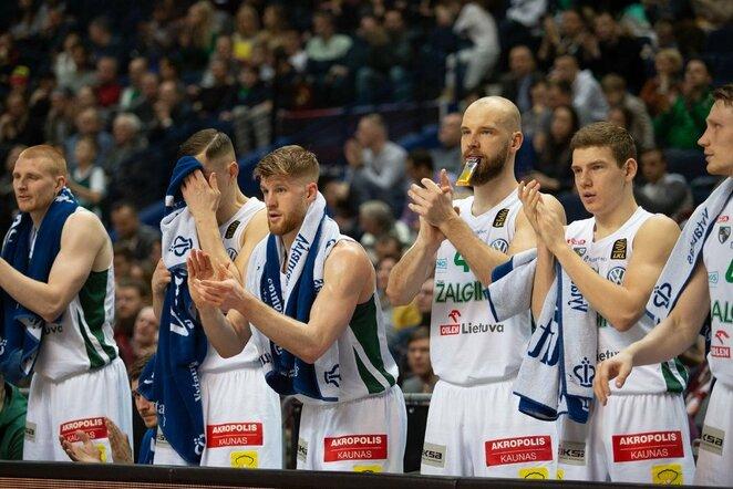 """""""Žalgiris"""" – """"Lietkabelis"""" rungtynių akimirka    Josvydo Elinsko / BNS foto nuotr."""