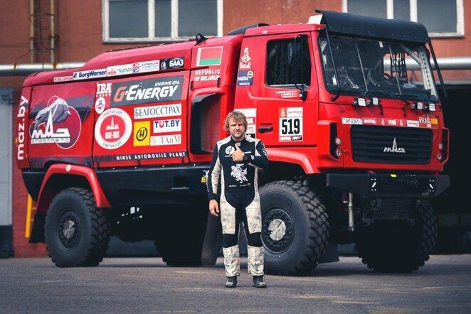 B.Vanagas išbandė Dakaro sunkvežimį | Vytauto Pilkausko nuotr.
