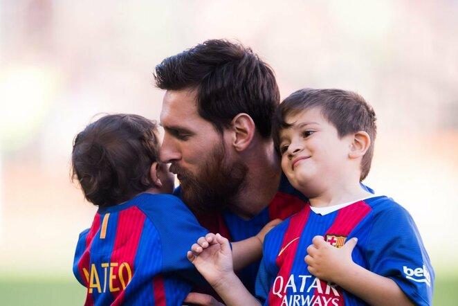 Lionelis Messi su vaikais | Organizatorių nuotr.