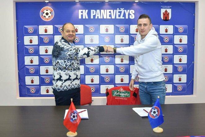 """E.Jankauskas pasirašė sutartį su """"Panevėžiu""""   fk-panevezys.lt"""